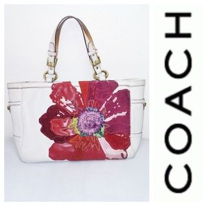 COACH Limited Edition Poppy Handbag White Red